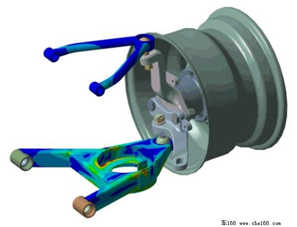 CHE168.com8月11日报道 在常见的集中独立悬挂结构中,双叉臂式悬架被公认是操控性最出色一种,绝大多数的性能跑车乃至于F1赛车使用的都是双叉臂的悬架结构。那么下面车168就带大家一起了解一下这种最具有运动基因的悬挂形式。  历史及概述:     由于叉臂长的很像许愿骨,所以得名double wishbone suspension(双愿骨式悬架)   双叉臂悬挂也叫做双A臂悬挂或者双摇臂悬挂,属于双横臂悬架中的一种,英文名为double wishbone suspension(双愿骨式悬架),这